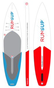 Top and bottom view of our inflatable paddle board